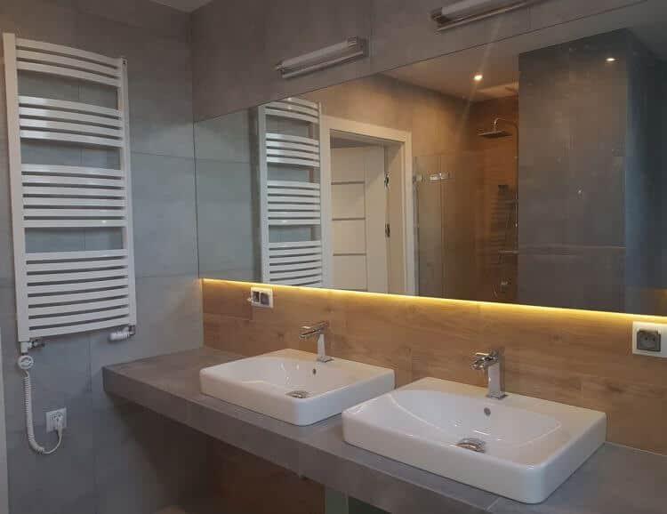 Prace wykończeniowe łazienka